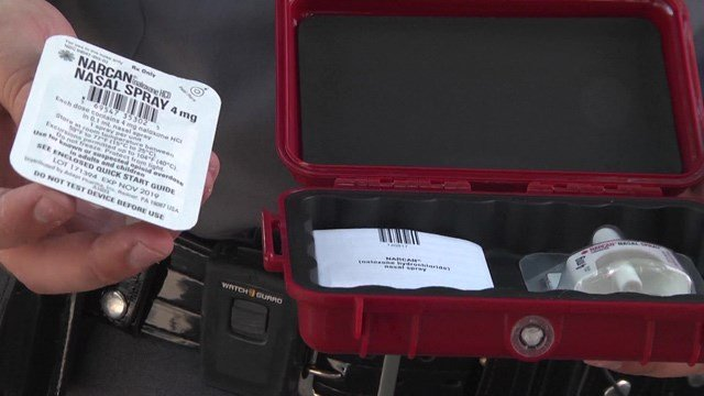 Each trained Virginia state trooper now carries two NARCAN Nasal Spray dispensers.