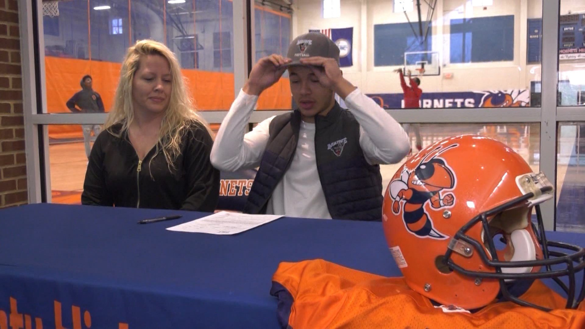 Darius Minor at his signing day in February