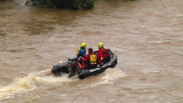 Teams searching the Rivanna River in Albemarle County