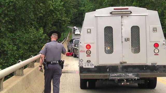 Authorities on the Rivanna River Bridge in Albemarle County