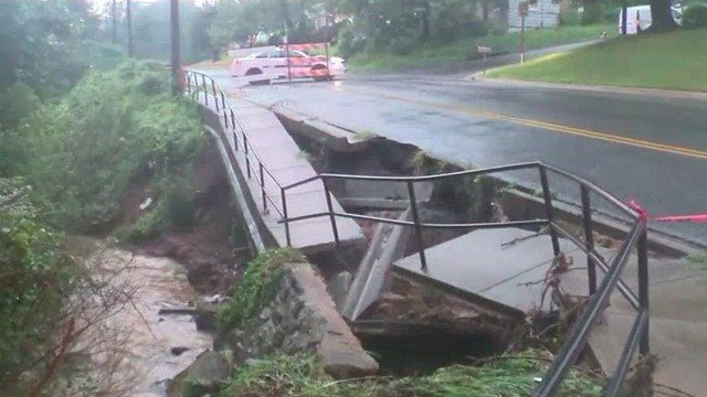 Flood damage in Lynchburg (Courtesy the City of Lynchburg)