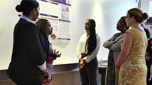 Students discussed their findings at UVA on August 3