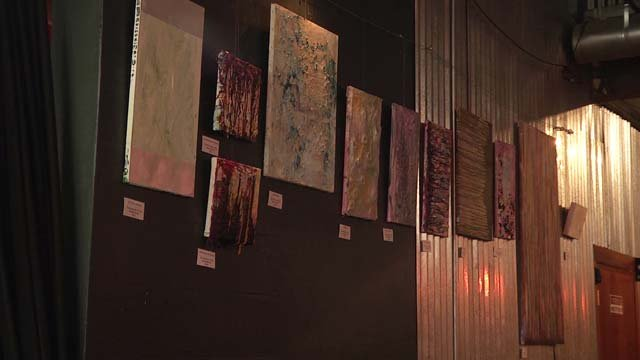 The artwork will remain on display until the end of September