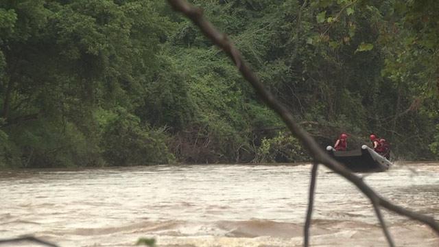 Teams searching Rivanna River in Albemarle County