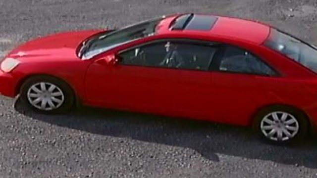 Surveillance image of Sariol's vehicle, which has been recovered (HPD).