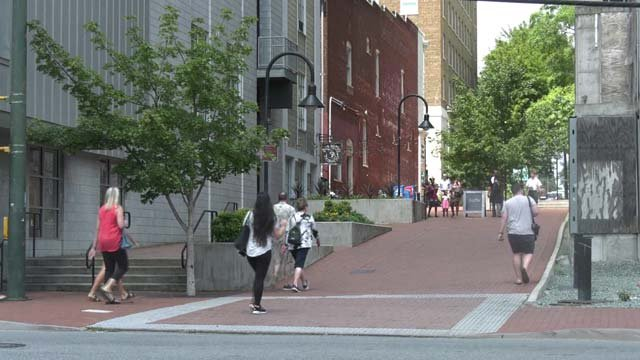 The Downtown Mall will have two entry points over the weekend