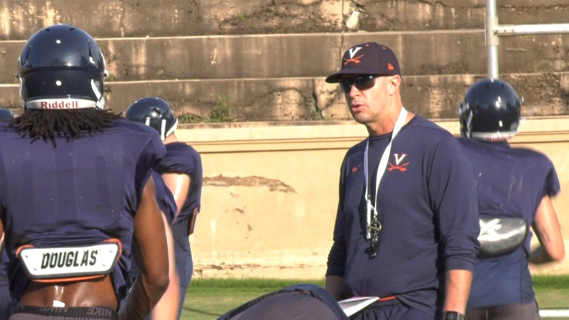 Head coach Bronco Mendenhall