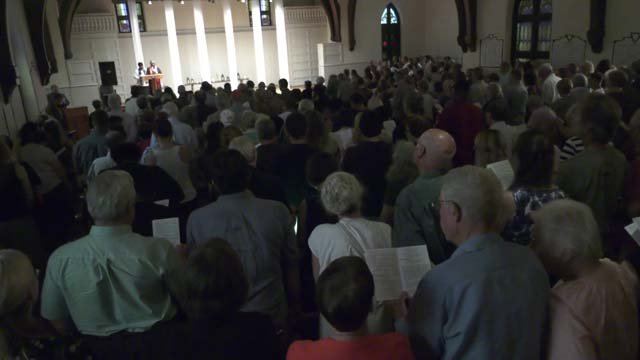 People came together in prayer on Thursday, August 9