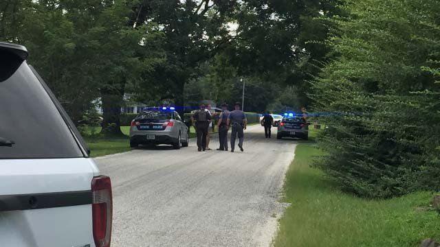 Police on the scene in Nelson County