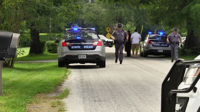 Investigators on the scene of an officer-involved shooting in Nelson County (FILE IMAGE)