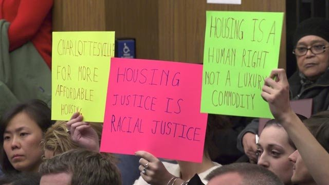 A group delivered a petition to the city on affordable housing