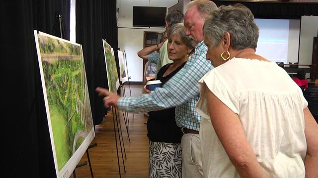 People came out to discuss plans for the McIntire Botanical Garden