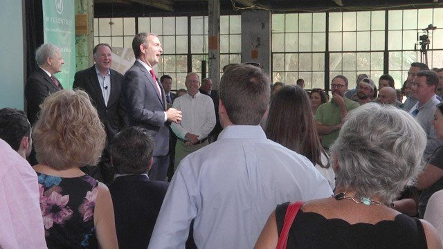Governor Northam spoke at the announcement.
