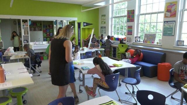 Upgrades classroom at Clark Elementary School