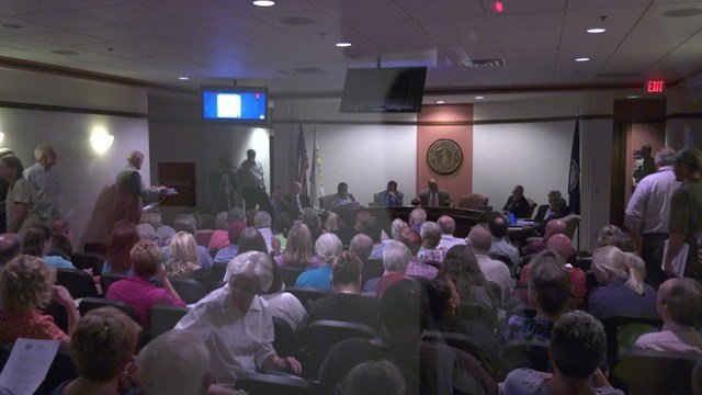 Dozens of Louisa residents spoke out against a proposed business park.