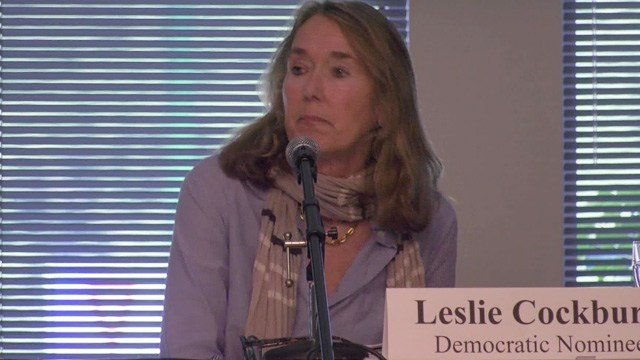 Democrat candidate Leslie Cockburn.