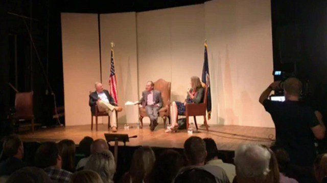 Riggleman and Cockburn debated for the first time Wednesday night.