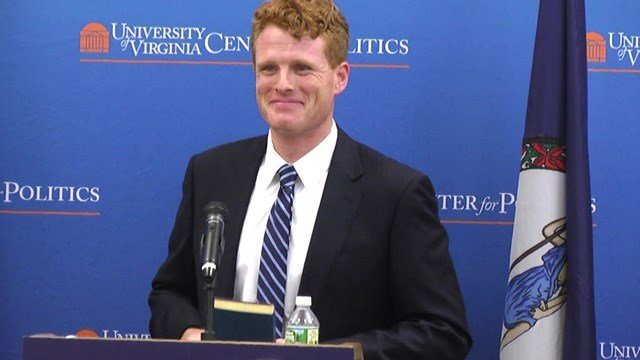 The UVA Center for Politics presented Kennedy with the same bible with great uncle, John F. Kennedy, used when accepting his presidential nomination.