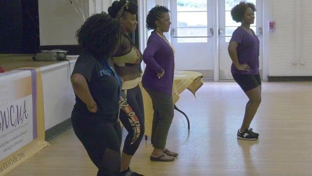 Participants dancing