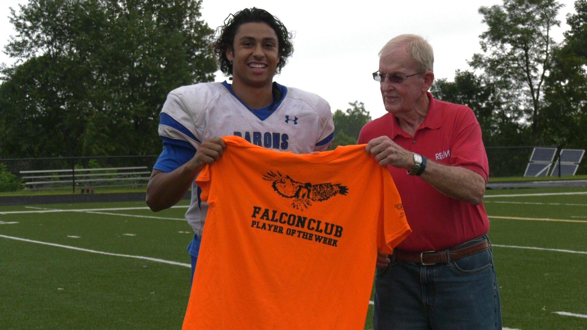 Blue Ridge School'sXavier Kane wins Falcon Club Player of The Week.