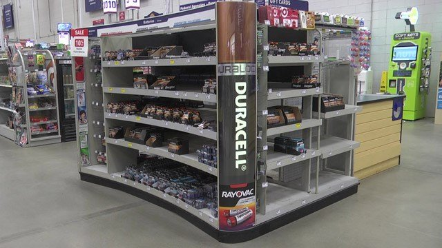 Batteries are in short supplies at stores.