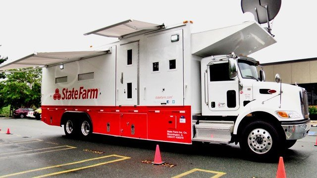 State Farm's mobile catastrophe center