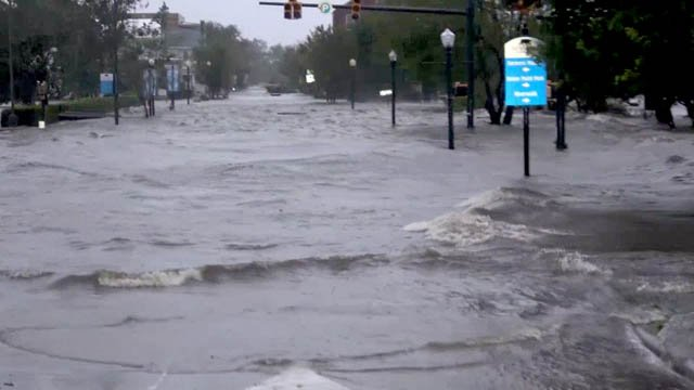 Flooding caused by Hurricane Florence