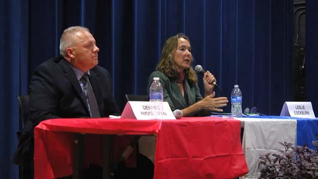Leslie Cockburn and Denver Riggleman
