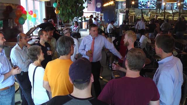 Senator Mark Warner stopped in Charlottesville on Sept. 21