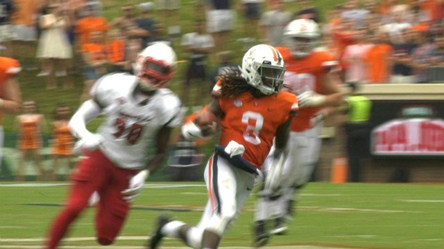 QB Bryce Perkins hurdled two defenders in the win against Louisville