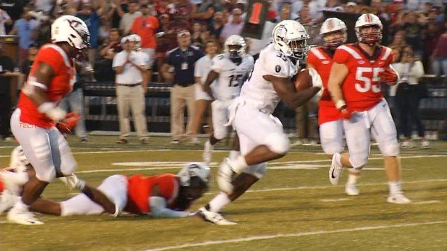 Jeremy Cox runs for an ODU touchdown