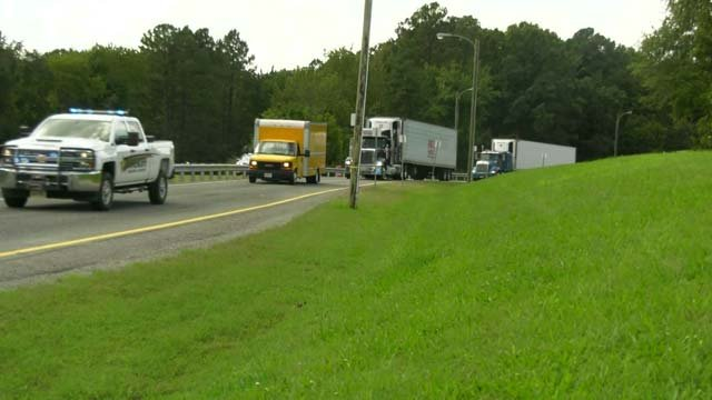 Four tractor-trailers are making their way to New Bern