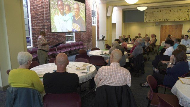 Habitat for Humanity hosted a breakfast on Friday to address Charlottesville's housing crisis.