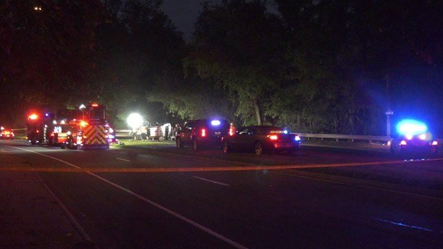 Emergency responders on the scene of a fatal crash along 5th Street (FILE IMAGE)