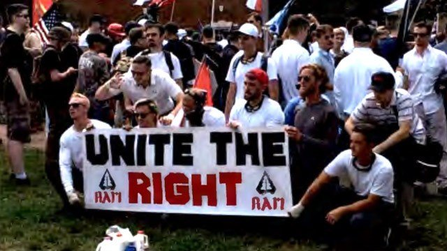 RAM members participating in the Unite the Right rally