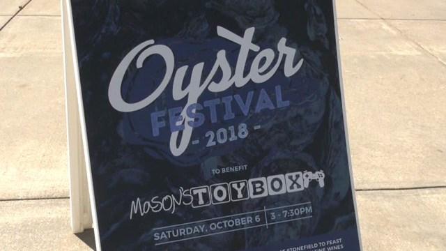 Sign for Oyster Fest