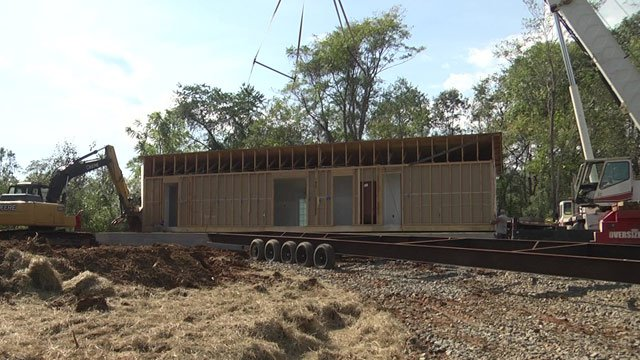 Students in Greene County built a house for Habitat for Humanity.