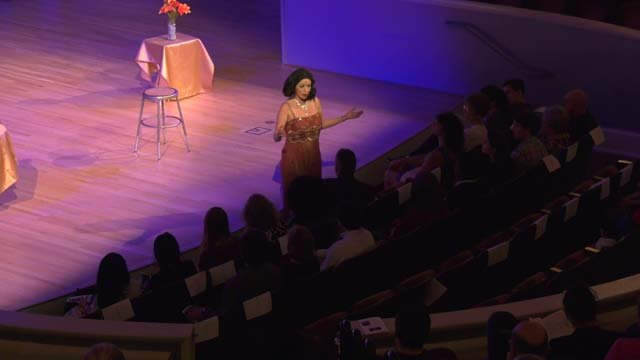 Actress Heather Massie highlighted Hedy Lamarr's story working for the U.S. government