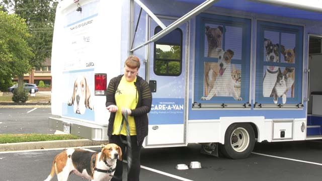 The CASPCA Care-A-Van stopped in Charlottesville on Oct. 6