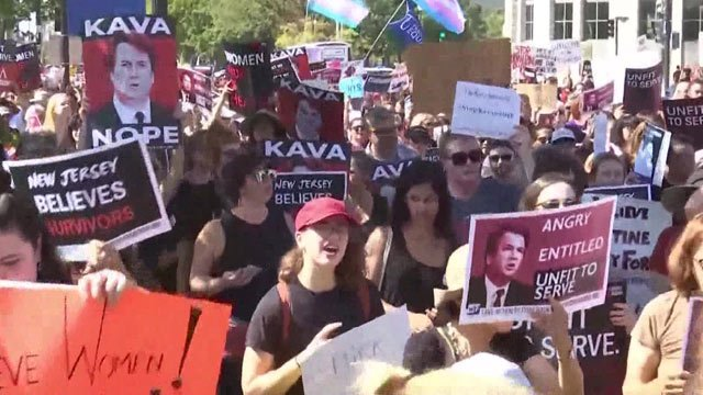 Protests in D.C. against Kavanaugh's confirmation.