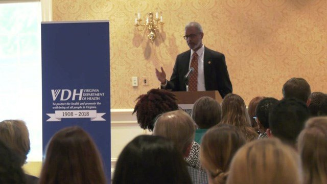 Virginia's health commissioner spoke at UVA on Wednesday.
