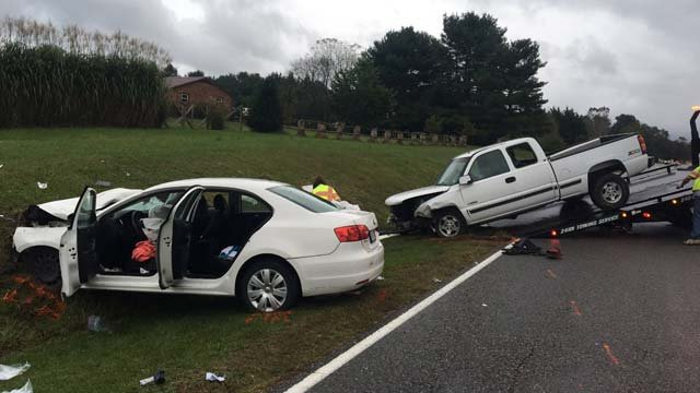 Scene of a fatal crash on Hermitage Road in Augusta County