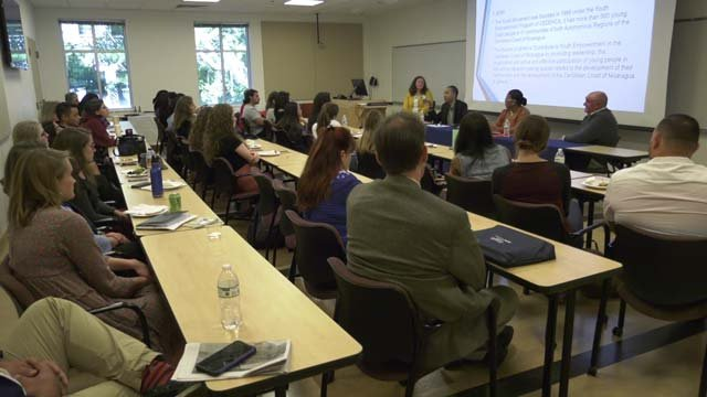 Nursing students heard from a panelist from Nicaragua on Oct. 12
