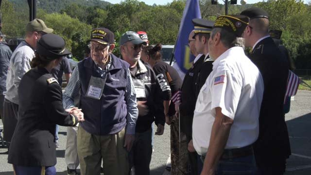 Veterans got a warm welcome as they stopped in Charlottesville