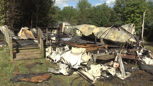 Fluvanna County home destroyed by a fire