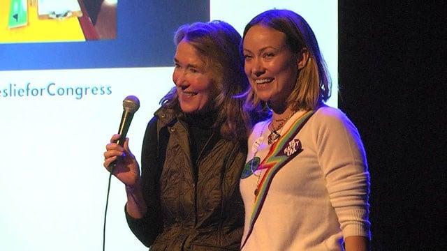 Leslie Cockburn and daughter Olivia Wilde