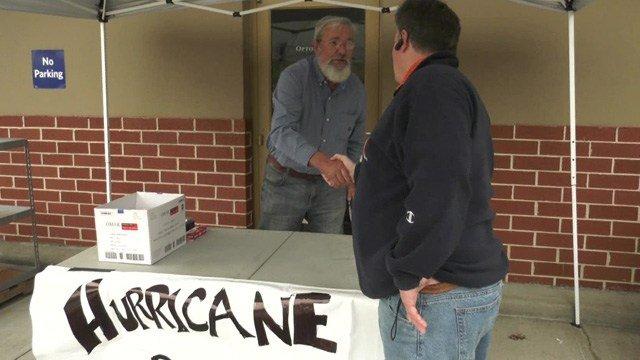 Tom Powell of Toy Lift Charities is on his third mission to help hurricane victims this year.