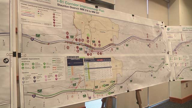 Plans for the Staunton corridor on I-81