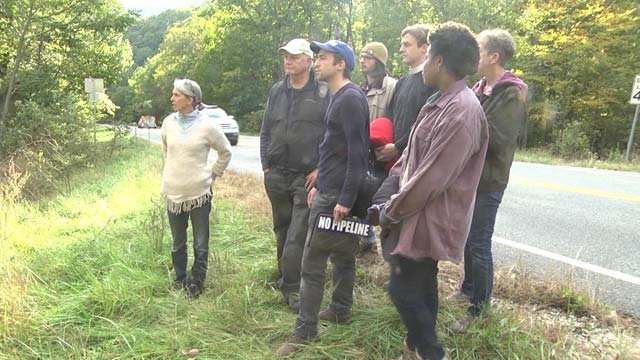 Anti-pipeline activists camped out in Nelson County