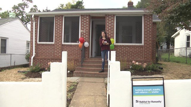 Kendall Dennis is now a homeowner in the same neighborhood her grew up in.